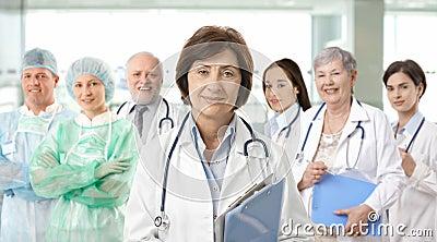 Team portrait of medical professionals