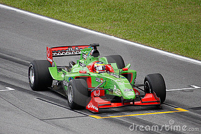 Team Portugal A1 GP car at the starting grid Editorial Photo