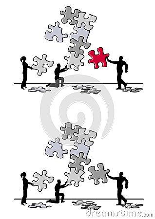 Team Puzzle Piece Problem Solving