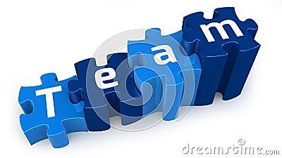 Team puzzle text