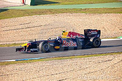 Team Red Bull Racing F1, Mark Webber, 2011 Editorial Photo