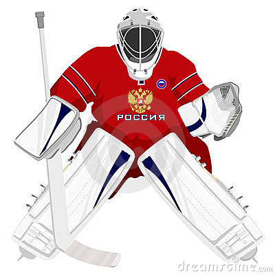 Team Russian hockey goalie
