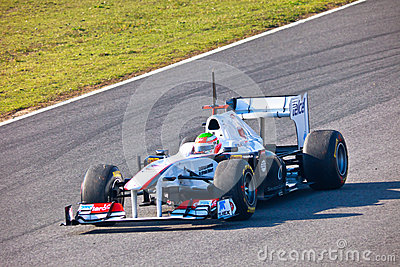 Team Sauber F1, Sergio Perez, 2011 Editorial Stock Photo