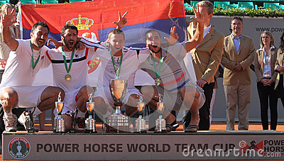 Team Serbia winners of the 2012 Power Horse World Editorial Image