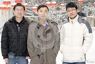 Team  in snow