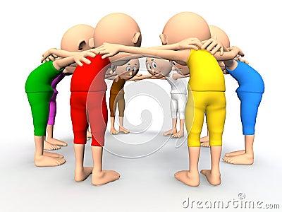 Team spirit, business debate