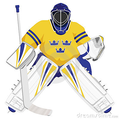 Team Sweden hockey goalie