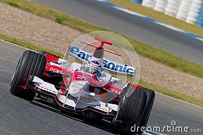 Team Toyota F1, Olivier Panis, 2006 Editorial Stock Image