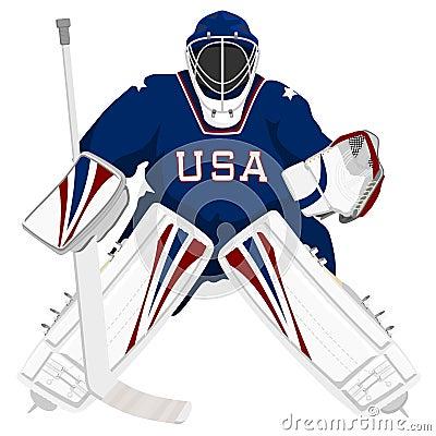Team USA hockey goalie