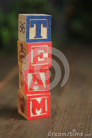 Team wood blocks