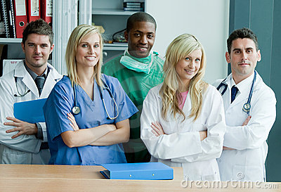 Team work in a hospital