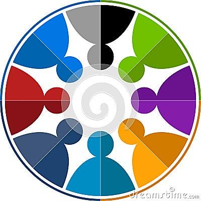 Free Team Work Logo Royalty Free Stock Images - 22083229
