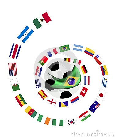 The 32 Teams in Brazil 2014 World Cup Editorial Image