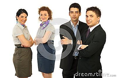 Teams of men and women