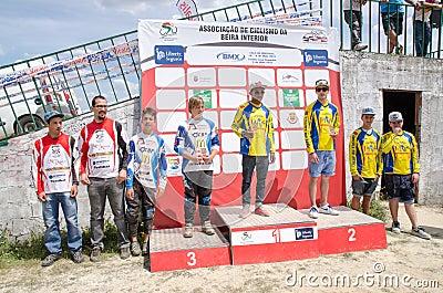 Teams podium Editorial Stock Image