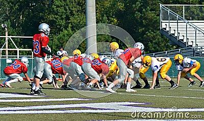 Teams Ready to Play Football Editorial Photography