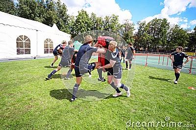 Teams training Editorial Stock Photo