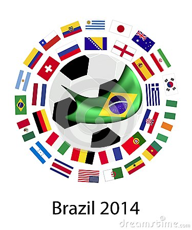The 32 Teams in 2014 World Cup Editorial Photo