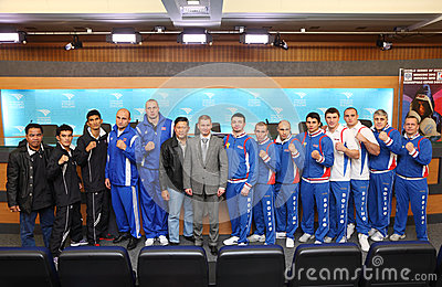 Teams of the World Series of Boxing Editorial Stock Photo