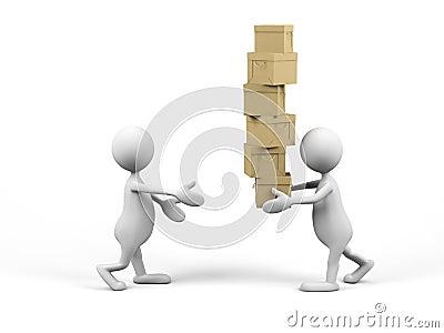 Teamwork. 3d image.