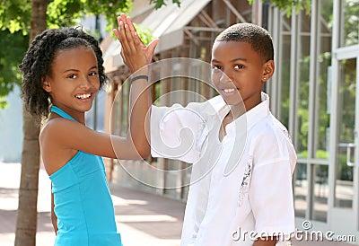 Teamwork: African-American Teenager Friends