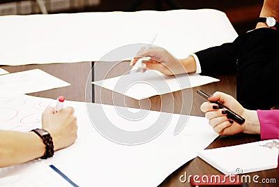 Teamwork  brain storm at meeting