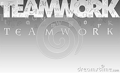 Teamwork Collage Background/eps