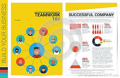 Teamwork Concept Book Cover Template Stock Vector - Image: 66385873