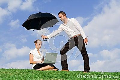 teamwork concept, business insurance