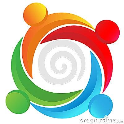Free Teamwork Diverse Logo Stock Photo - 23777980