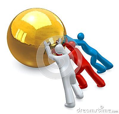 Free Teamwork Effort Stock Photography - 12231552