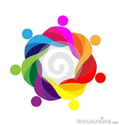 Free Teamwork Embraced People Logo Stock Images - 50524794