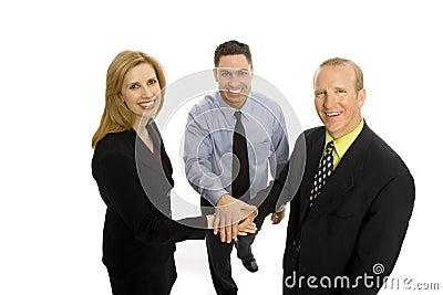 Teamwork för affärsfolk