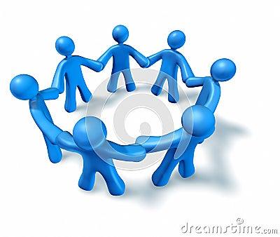Teamwork-Freundschaft