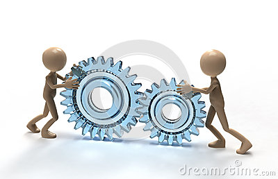 Teamwork with gears