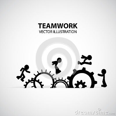 Teamwork Graphic Design Stock Photo