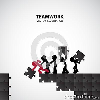 Teamwork Graphic Design Vector Illustration