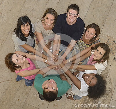 Teamwork: Group of diverse people