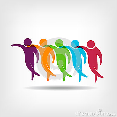 Free Teamwork. Group Of Friends Logo Image Stock Photos - 39918563