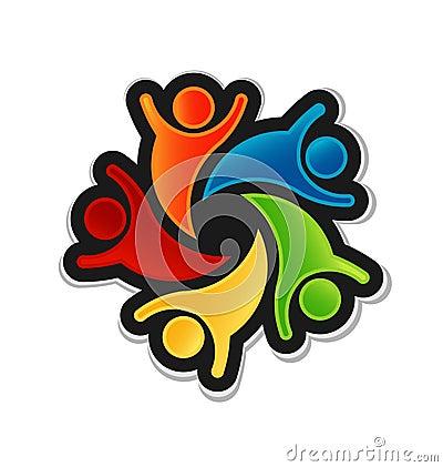 Teamwork Happy Logo