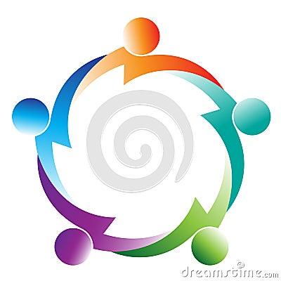 Free Teamwork Logo Royalty Free Stock Photo - 22931465