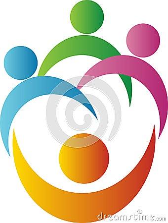 Free Teamwork Logo Royalty Free Stock Photo - 25484045