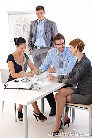 Teamwork in meetingroom