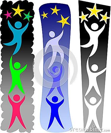 Free Teamwork Reaching Goal/eps Royalty Free Stock Photography - 11306477