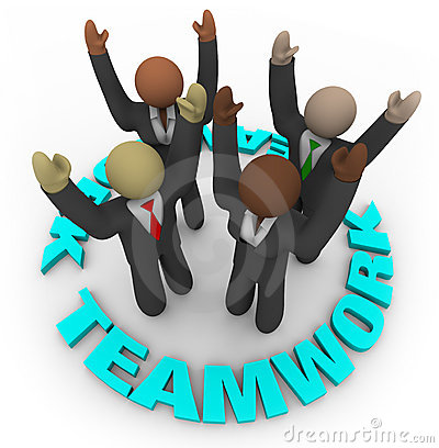 Teamwork - Team Members In Circle Royalty Free Stock Photos - Image: 10486148