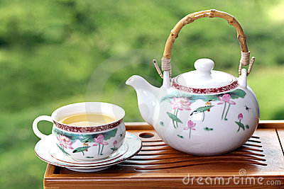 Teapot with chinese tea