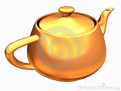 Teapot with clipping path