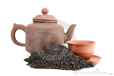 Teapot of  cup  and tea