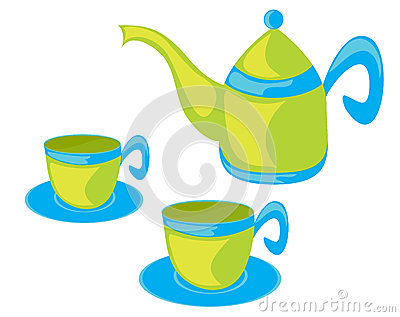 Teapot and cups.