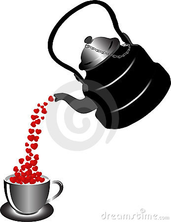 Teapot with hearts
